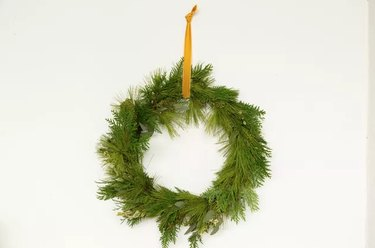 Foraged holiday wreath