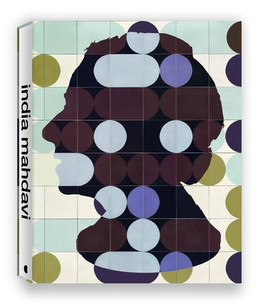 """book cover with profile silhouette with spine that reads """"India Mahdavi"""""""