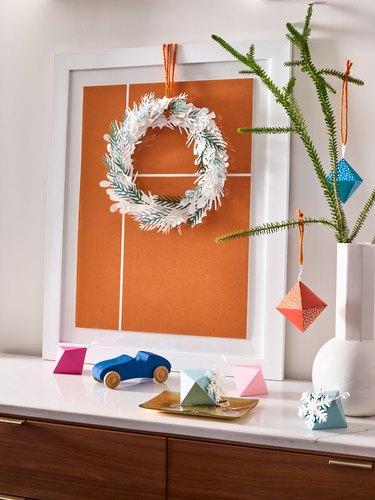 West Elm x Paper Source holiday paper decor