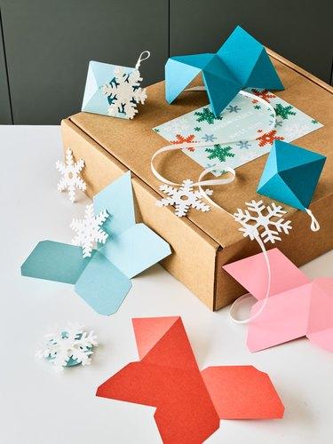 West Elm x Paper Source DIY paper home decor box and ornaments