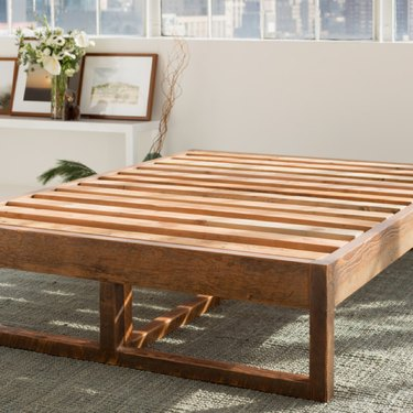 wood slated eco-friendly bed frame