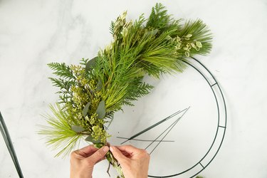how to make a DIY Foraged Holiday Wreath