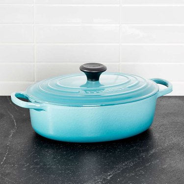 ceramic coated cast iron Dutch Oven by Le Creuset
