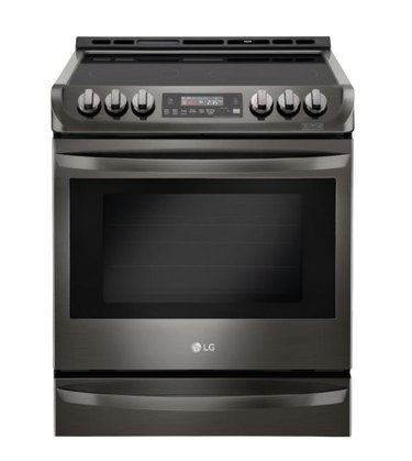 gray electric stove