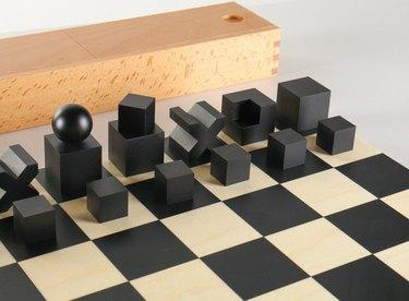 Vintage 1923 Bauhaus Chess Set, $112