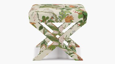The Inside X Bench (in Cinque Terra fabric), $329