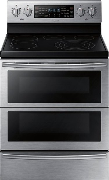 stainless steel flat top electric stove with two ovens
