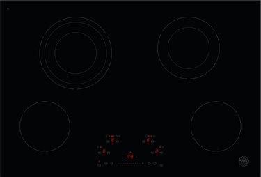 four burner ceramic stovetop in black by Bertazzoni