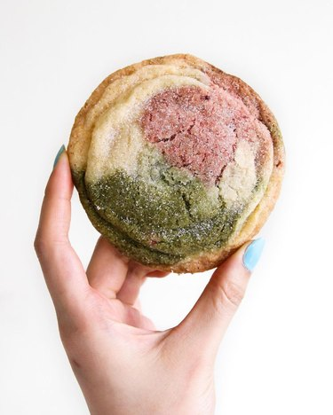 Constellation Inspiration Matcha Neopolitan Sugar Cookies