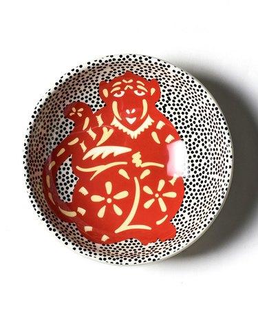 Chinese Zodiac Year of the Monkey Bowl