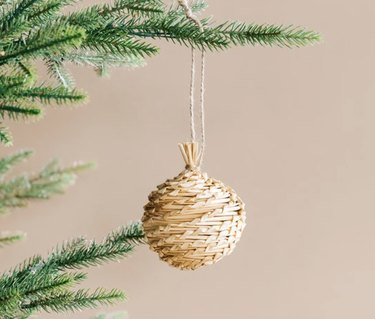 McGee & Co. Woven Straw Ornament, $4
