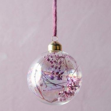 floral glass ornament