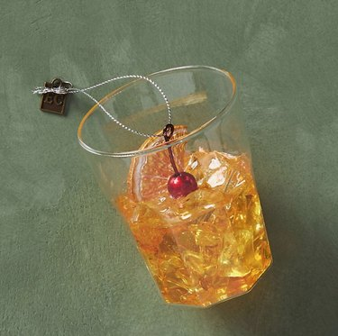 Anthropologie Old Fashioned Cocktail Ornament, $22