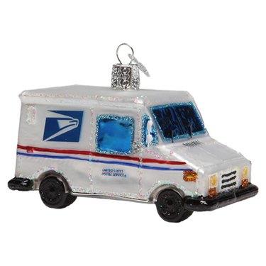 USPS Mail Truck Ornament, $15.95