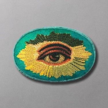 "12"" x 8"" Beady-Eyed Embellished Eye Throw Pillow by John Derian for Target"