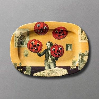Feast Your Eyes Pumpkin Juggler Serving Tray by John Derian for Target Threshold