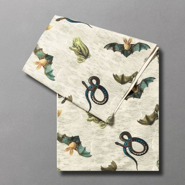 """John Derian for Target 90"""" x 20"""" Creepy and Crawly Critter Print Table Runner"""