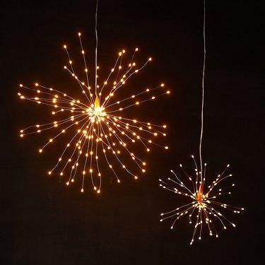 dandelion-like pendant lights