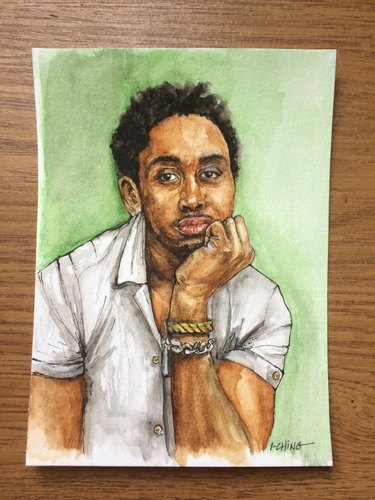 Watercolor of Black man