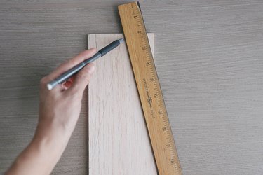 Drawing a triangle on balsa wood