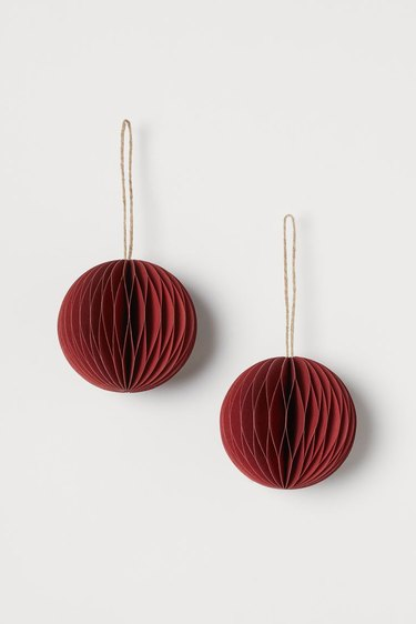 two red ornaments