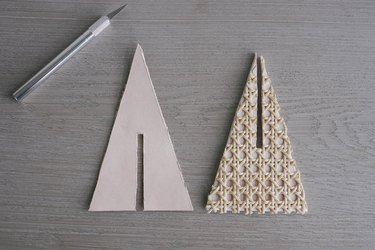 Slits cut out of center of triangles
