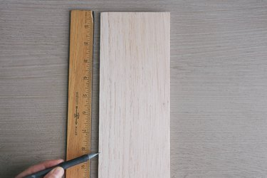 Marking height on balsa wood with a pencil