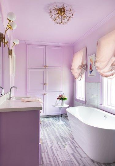 purple bathroom paint