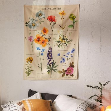 cottagecore holiday gift guide wildflower tapestry