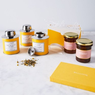 cottagecore holiday gift guide tea and preserves set