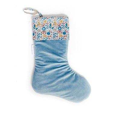 Poppy & Honesty Velvet Liberty Stocking, $49.60