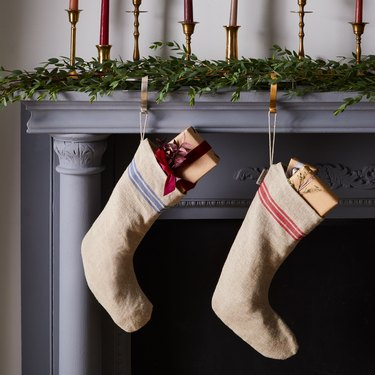 Theiffry French-Inspired Grain Sack Stockings, $45