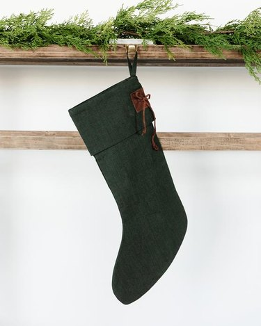 McGee & Co. Leather Tie Stocking, $44