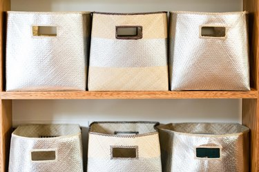 Silver boxes organizers