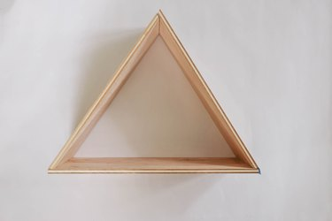 Wood board formed into triangle