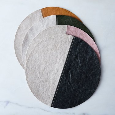 two-toned round placemat