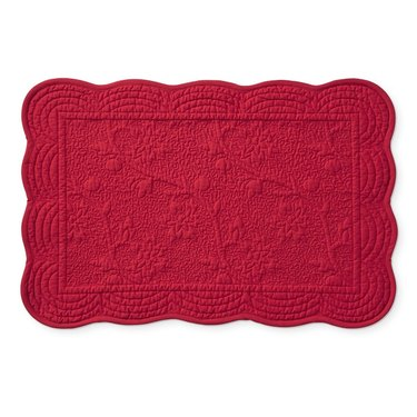 red scalloped placemat