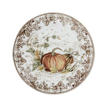 Williams Sonoma Plymouth Pumpkin Dinner Plates