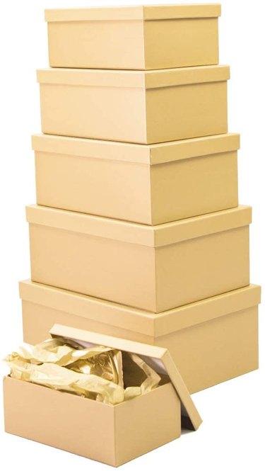 Amazon Prime 6PCS Matte Gold Gift Boxes