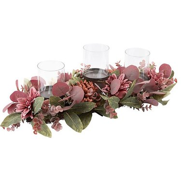Bee & Willow Home Holiday Centerpiece with Glass Shades