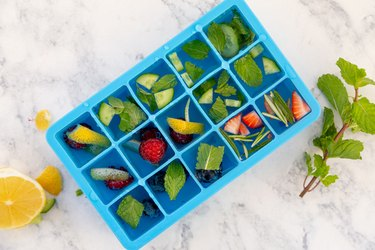 Infused Ice Cubes for cocktails