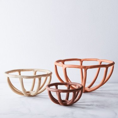 Food52 Handmade Nested Coil Prong Bowls