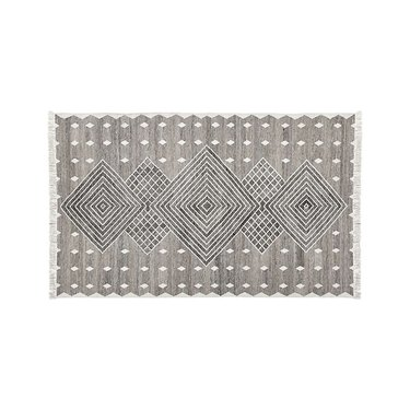 grey and white pattern outdoor rug