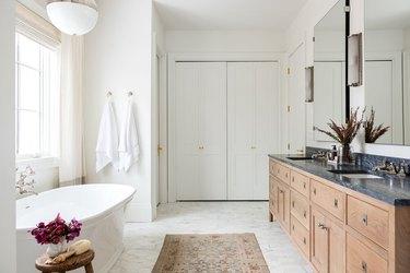 Bathroom closet organization by Studio McGee