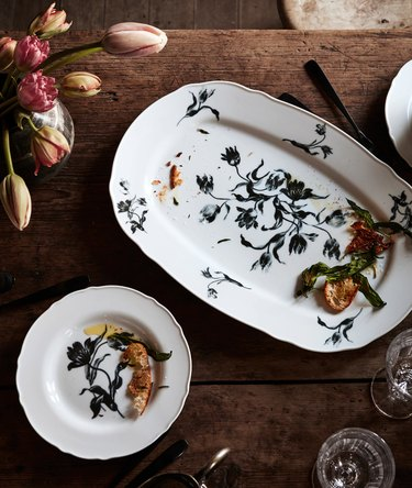 ikea floral dishes