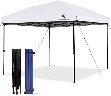 white and black pop up canopy tent