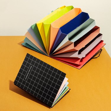office organization supplies, rainbow filer book