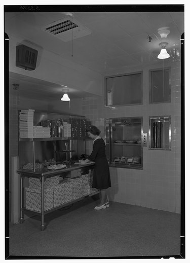 the dumbwaiter in the Esso Building in Rockefeller Center