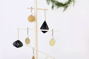 Brass and wood bead ornaments