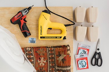 Here's what you'll need to make your upholstered ottoman.